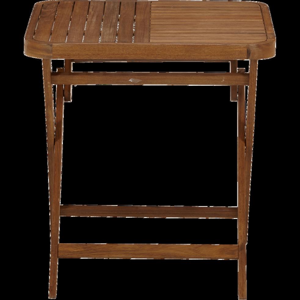 Youk - Table de jardin pliante en acacia huilé (2 places)