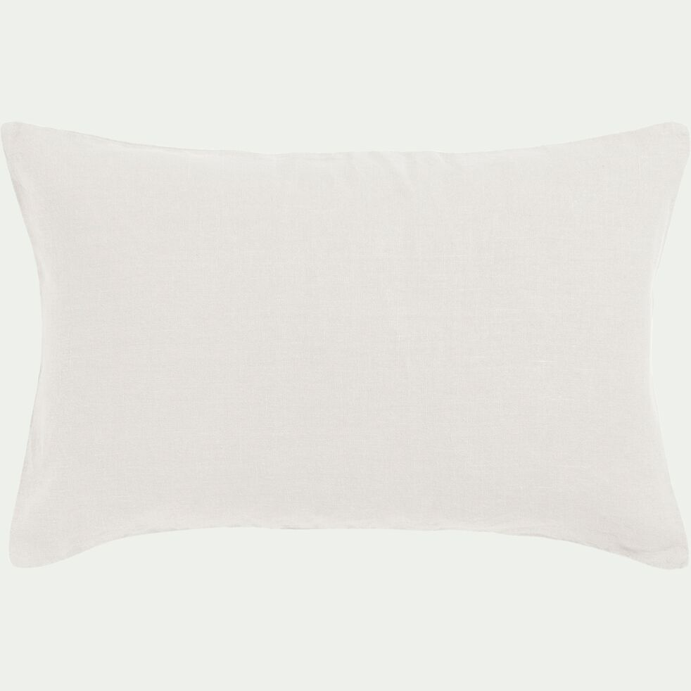 Coussin en lin lavé - blanc ventoux 40x60cm-VENCE