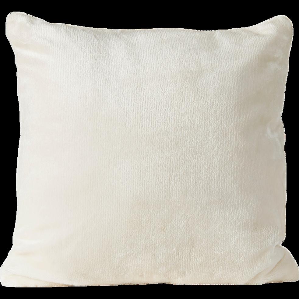 Housse de coussin effet doux blanc ventoux 40x40cm-ROBIN