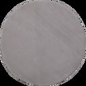Tapis rond imitation fourrure gris restanque - Plusieurs tailles-ROBIN