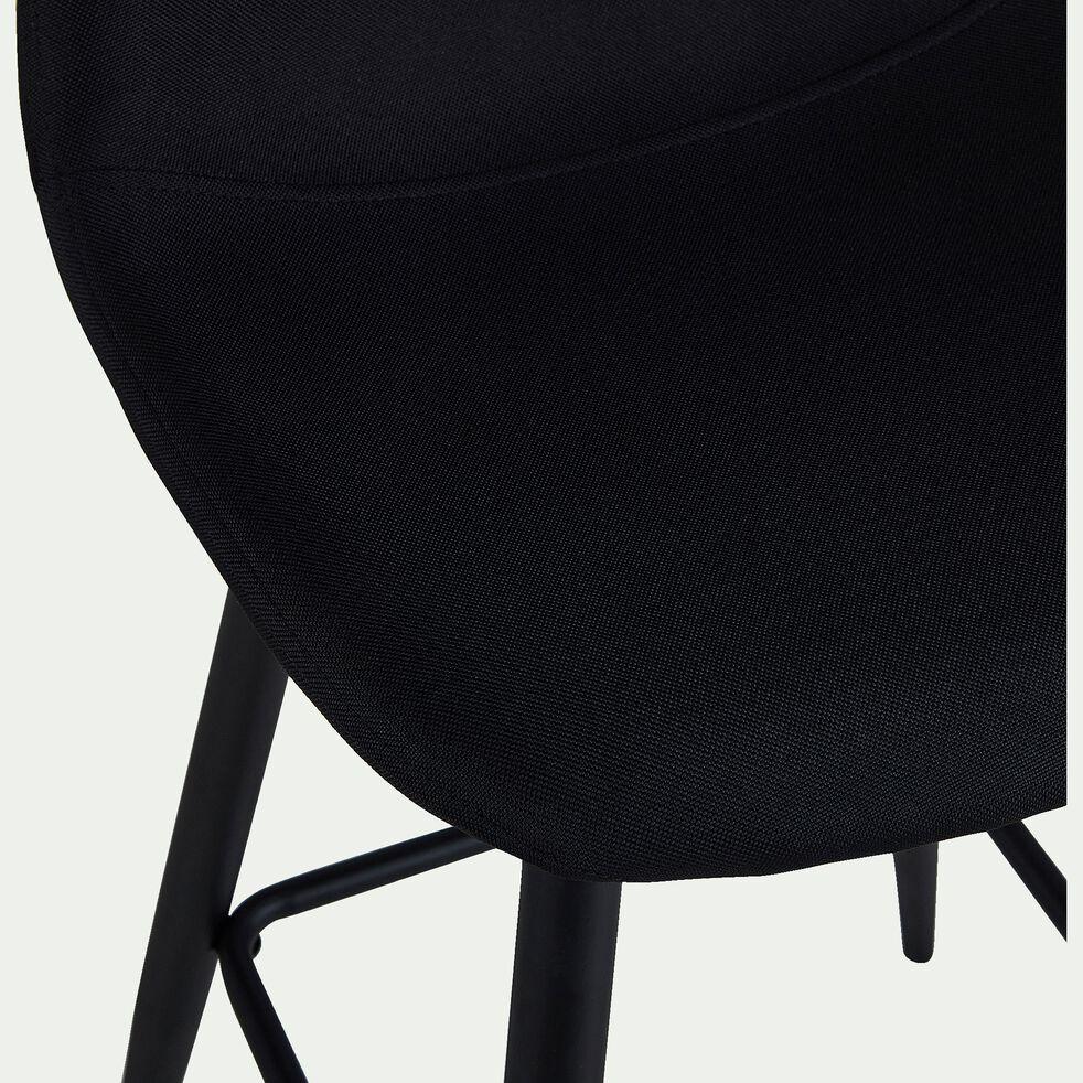 Chaise de bar en tissu noir calabrun H66cm-CHARLIE