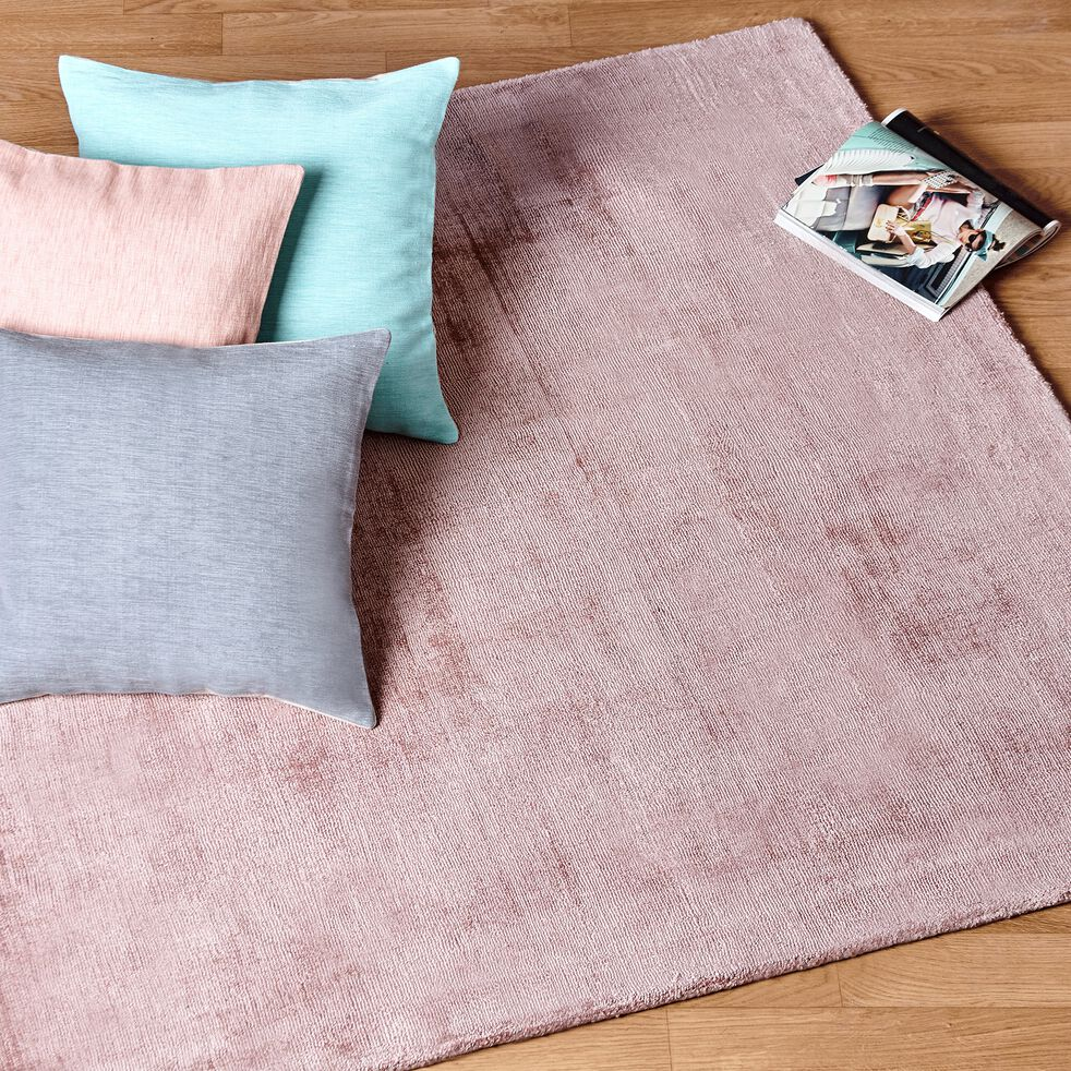 Tapis en viscose - rose poudré 120x170cm-TANSEN