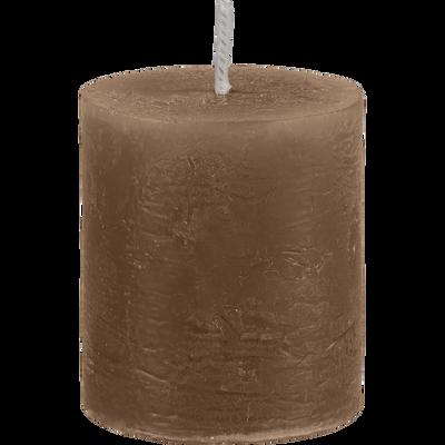 Bougie votive brun albe D4xH5cm-BEJAIA