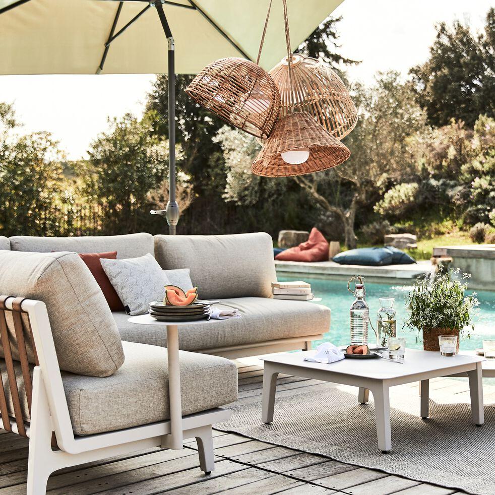 Salon de jardin en aluminium (6 places) - beige-CONSTANTINA
