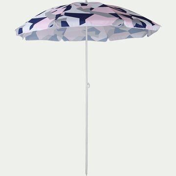 Parasol de plage bleu et rose D180cm-GASSIN