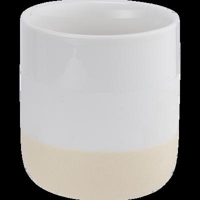 Tasse en porcelaine blanc nougat-LANAU