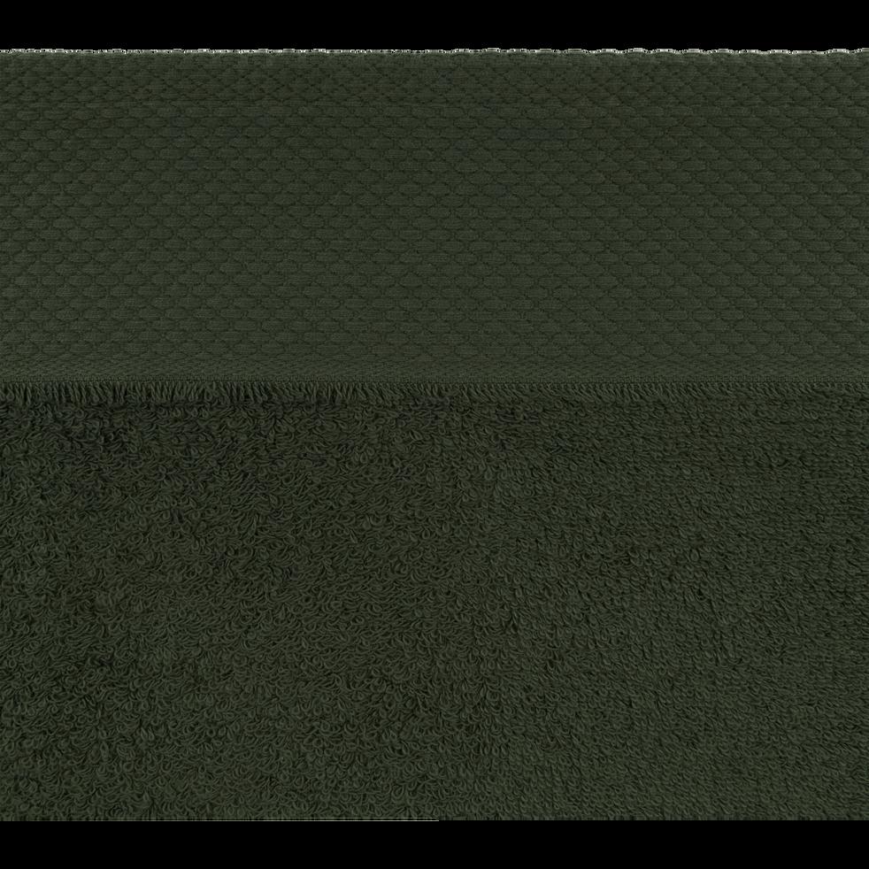 Lot de 2 gants en coton vert cèdre-AZUR