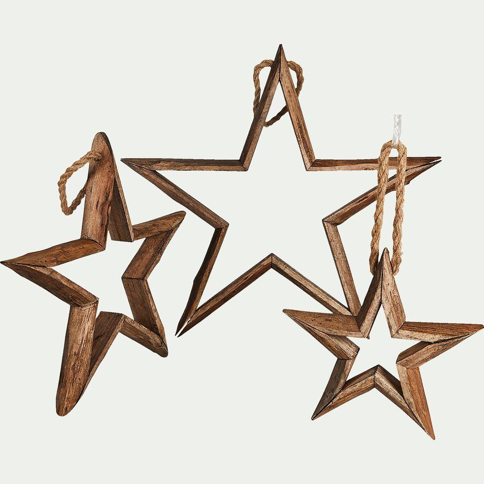 3 étoiles en bois de sapin-MADO
