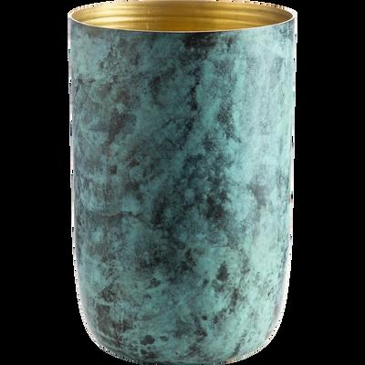 Vase en aluminium vert H20cm-APIALE