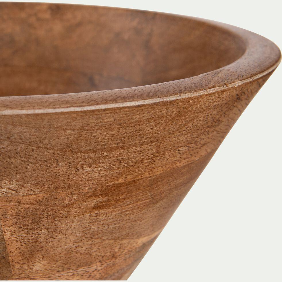Saladier en bois de manguier - marron D21cm-PEGO