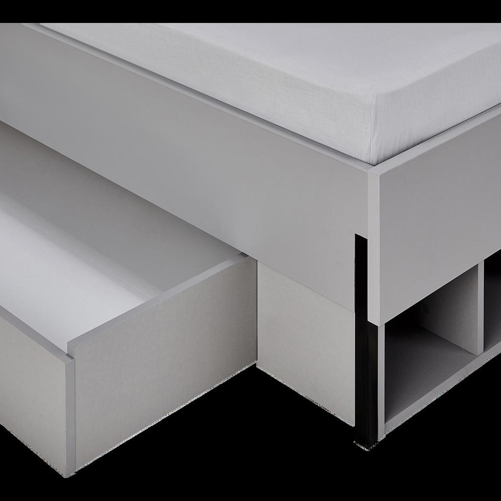 Tiroir et niche 140cm - gris-CASTEL