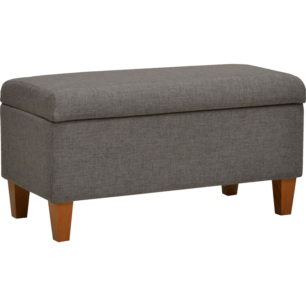 pouf coffre en tissu gris clair chin magic poufs et repose pieds alinea. Black Bedroom Furniture Sets. Home Design Ideas