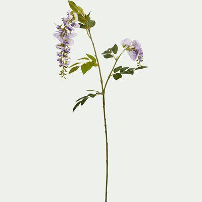 Fleur artificielle glycine violette H100 cm-GLYCINE