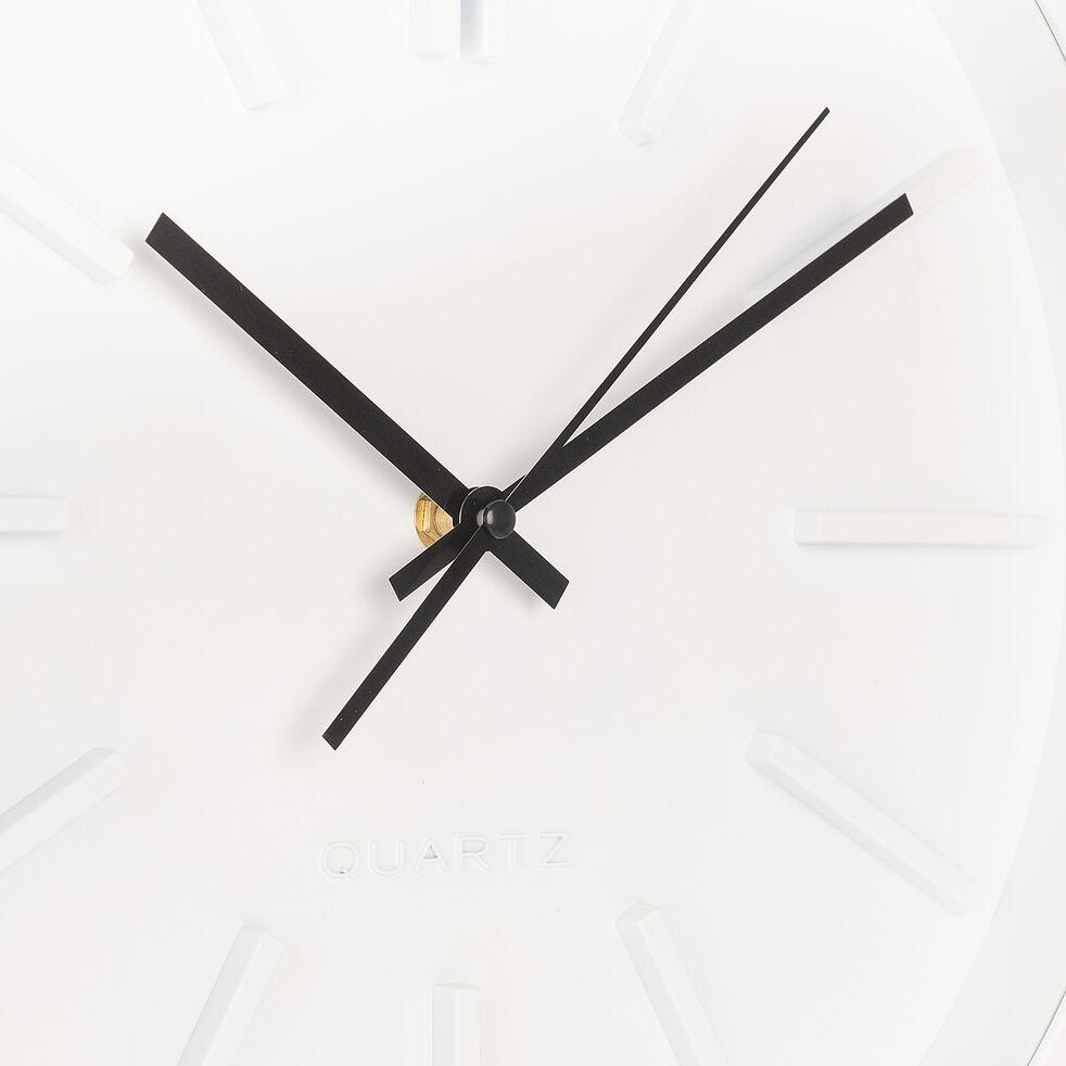 Horloge murale - D35,5x4,8cm blanc-LITTORAL