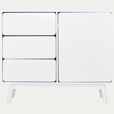 Buffet rétro blanc 1 porte et 3 tiroirs-AUBUN