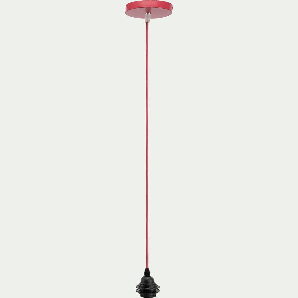 Cordon électrique en tissu E27 - rouge arbouse L150cm-ARGUIN