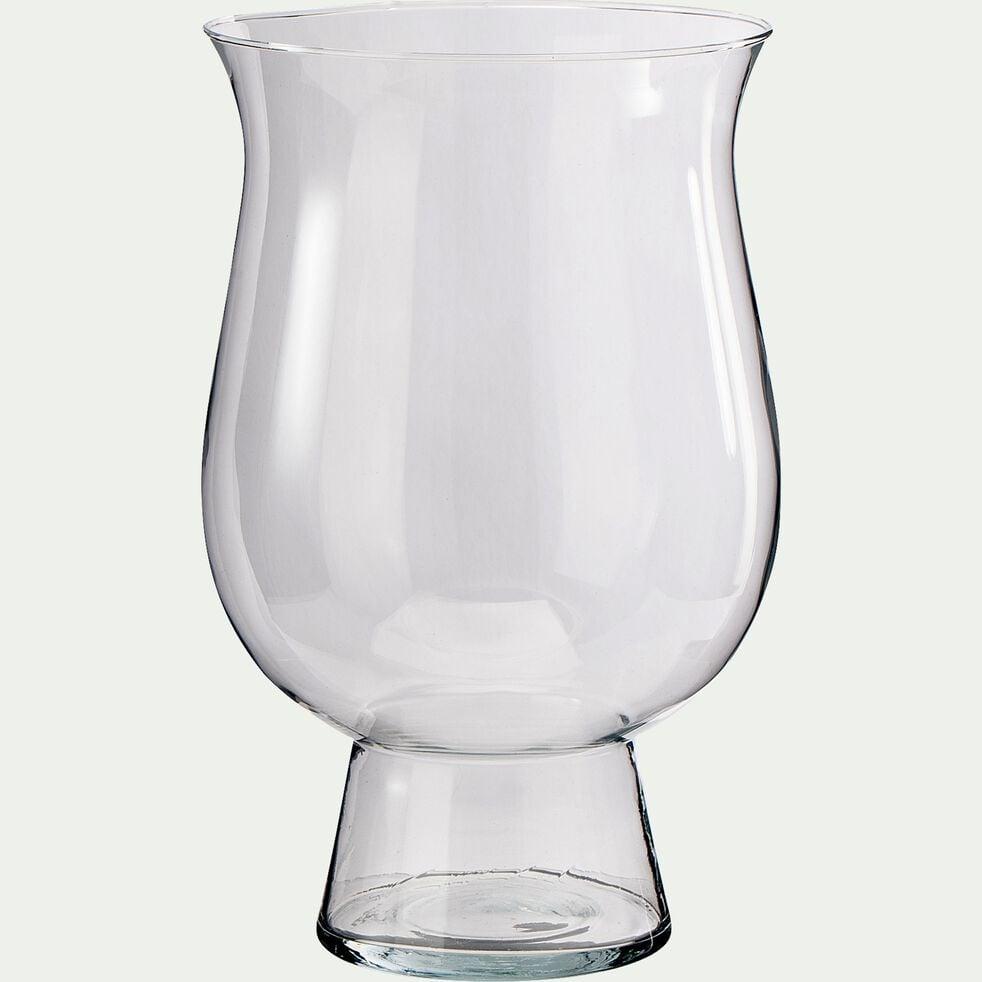 Photophore en verre - transparent D21xH54cm-PADRENDA