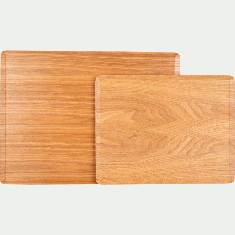 Plateau en bois clair 27cm-SEGUR