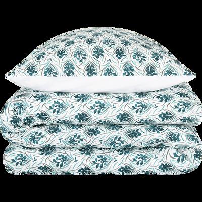 Housse de couette en coton à motifs 260x240cm et 2 taies d'oreillers-AMPHORES