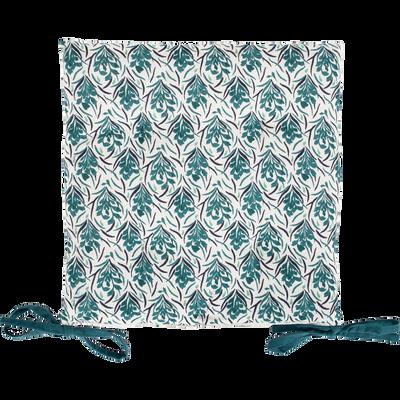 Galette de chaise de jardin en coton déperlant motif Amphore-MIKO