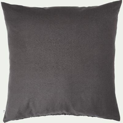 Coussin de sol en coton - gris ardoise 70x70cm-CALANQUES