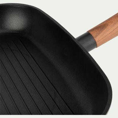 Grill en aluminium noir 28x28cm (tous feux dont induction)-PADENA