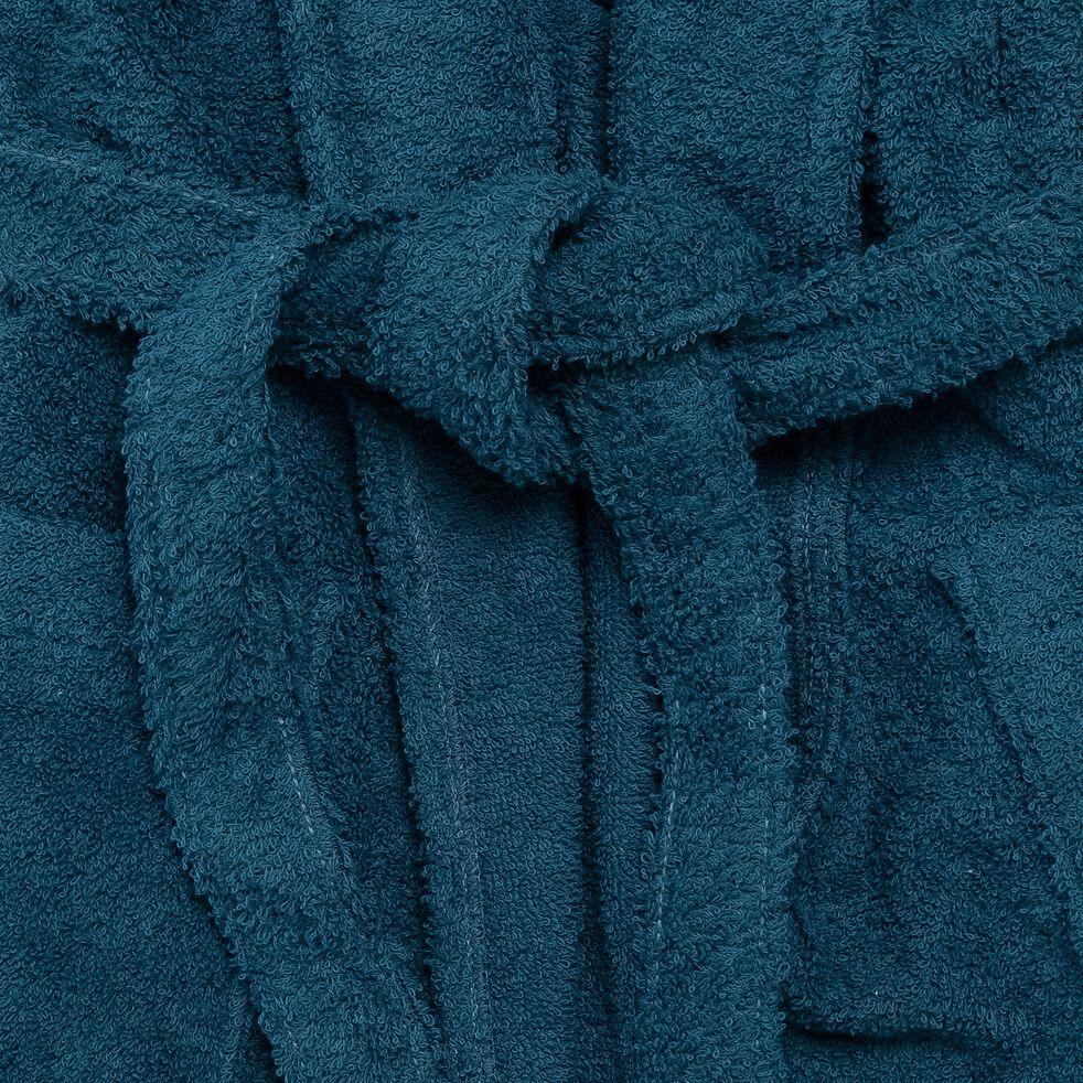 Peignoir en coton et polyester - bleu figuerolles L/XL-AZUR