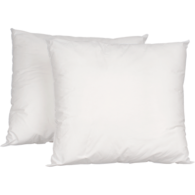 Lot de 2 oreillers synthétiques - 60x60 cm-Blanco