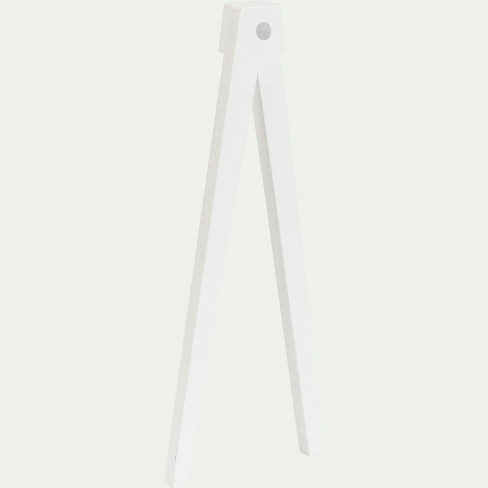 Lot de 4 pieds pour bureau composable - blanc-PUNCIA