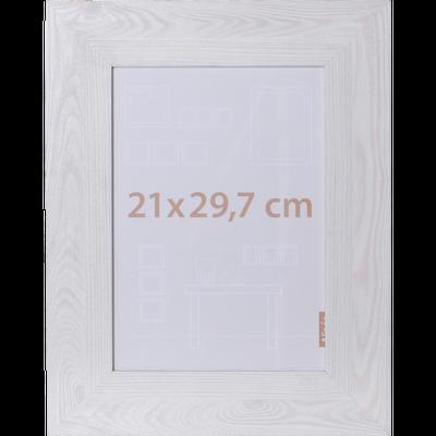 Cadre photo effet bois blanchi 21x29.7cm-VERA