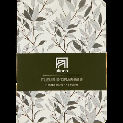 Carnet A6 fleur d'oranger-ORANGER