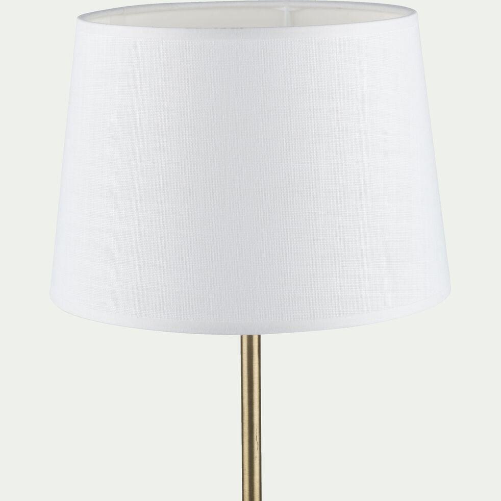Abat-jour en coton - D18cm blanc capelan-MISTRAL