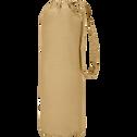 Drap housse en percale de coton Beige nèfle 140x200cm bonnet 25cm-FLORE