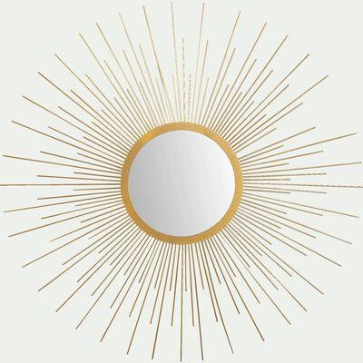 Miroir soleil en métal - doré D64,5cm-ELIO