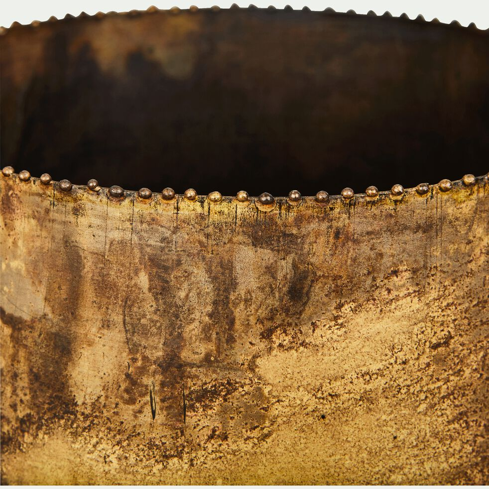 Cache-pot H16xD18,5cm - bronze-Catane