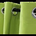 Rideau à œillets vert 140x250cm-ALMERA