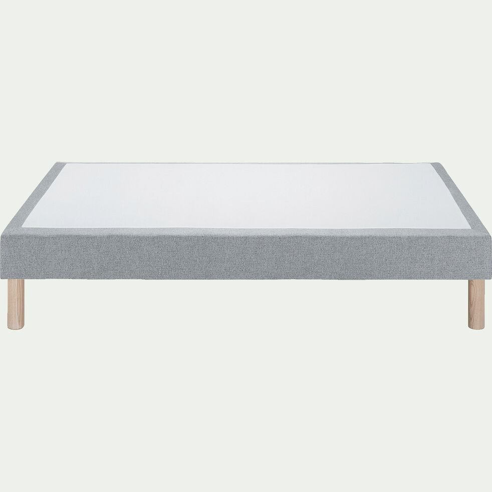 Sommier tapissier 140x190cm gris clair-REDON