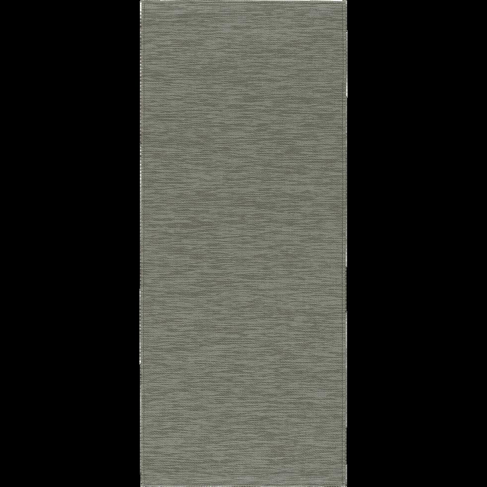 VITOU - Tapis de cuisine effet tissé vert 50x120cm