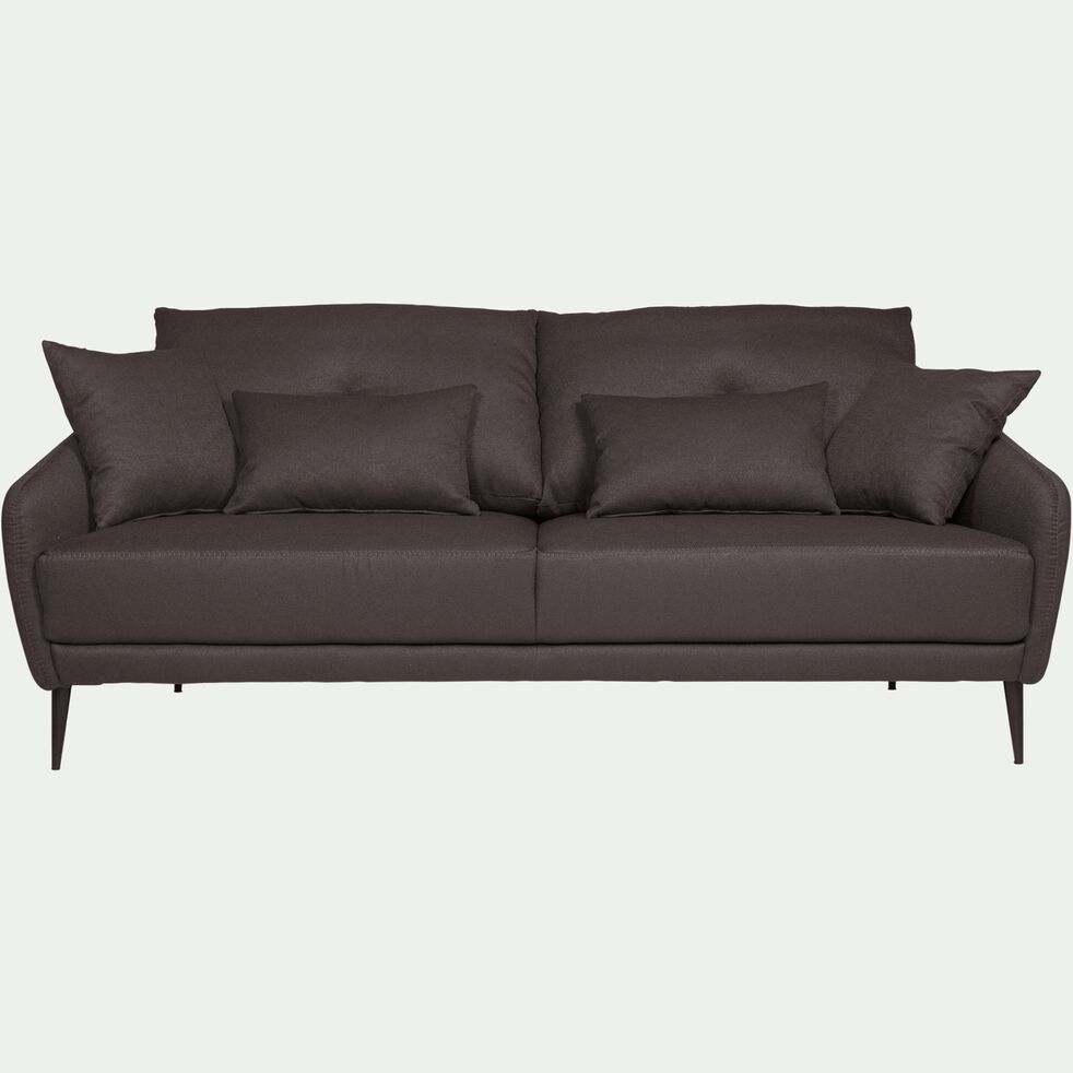 Canapé 3 places fixe en tissu gris restanque-DOME