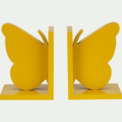 Presse livre forme papillon - jaune millepertuis-Bibli