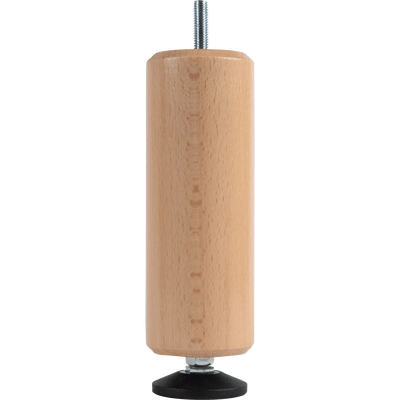 Pied de sommier cylindrique en hêtre - 15 à 20 cm-PIED