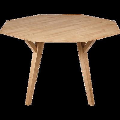 Table de repas octogonale en chêne - 8 places-ODILE