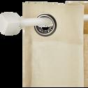 Kit tringle en acier blanc extensible 170 à 300 cm-LISON