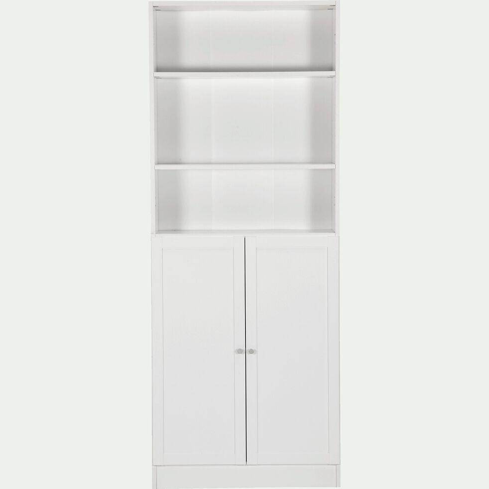 Bibliothèque en bois - blanc H203cm-BIALA
