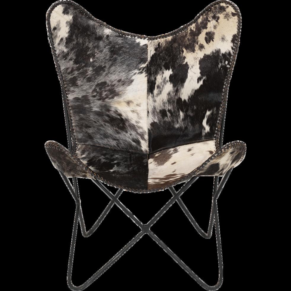 Housse de fauteuil en cuir peau de vache-BUTTERFLY