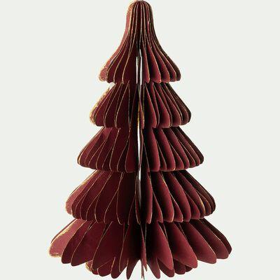 Sapin décoratif en papier - D14xH20cm rouge-ALPILLES