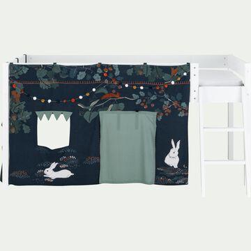 Tente de lit enfant à motif Sous-bois - L106xl152cm-Mas