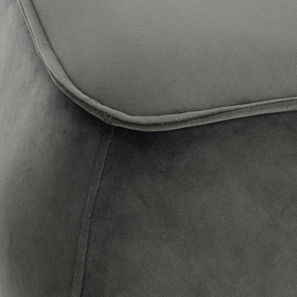 Pouf carré en tissu - vert cèdre L60xH34cm-CABARA