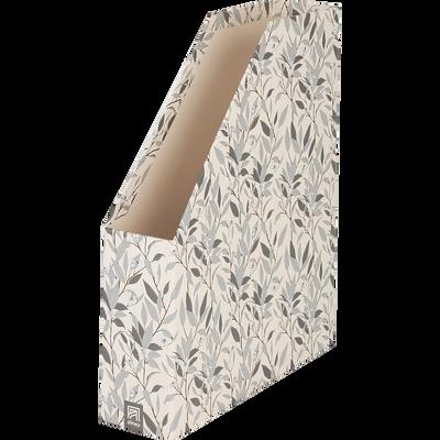 range-revue en carton motifs fleur d'oranger-ORANGER