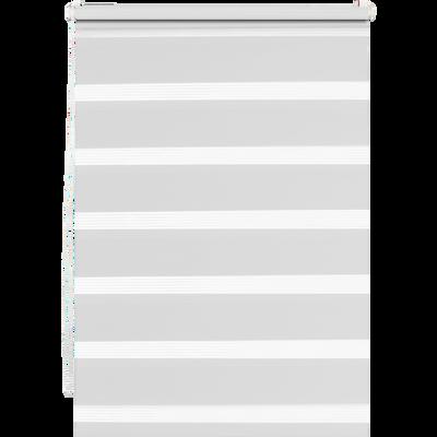 Store enrouleur tamisant blanc 37x190cm-JOUR-NUIT